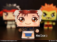 Mini Chun li papercraft fan art