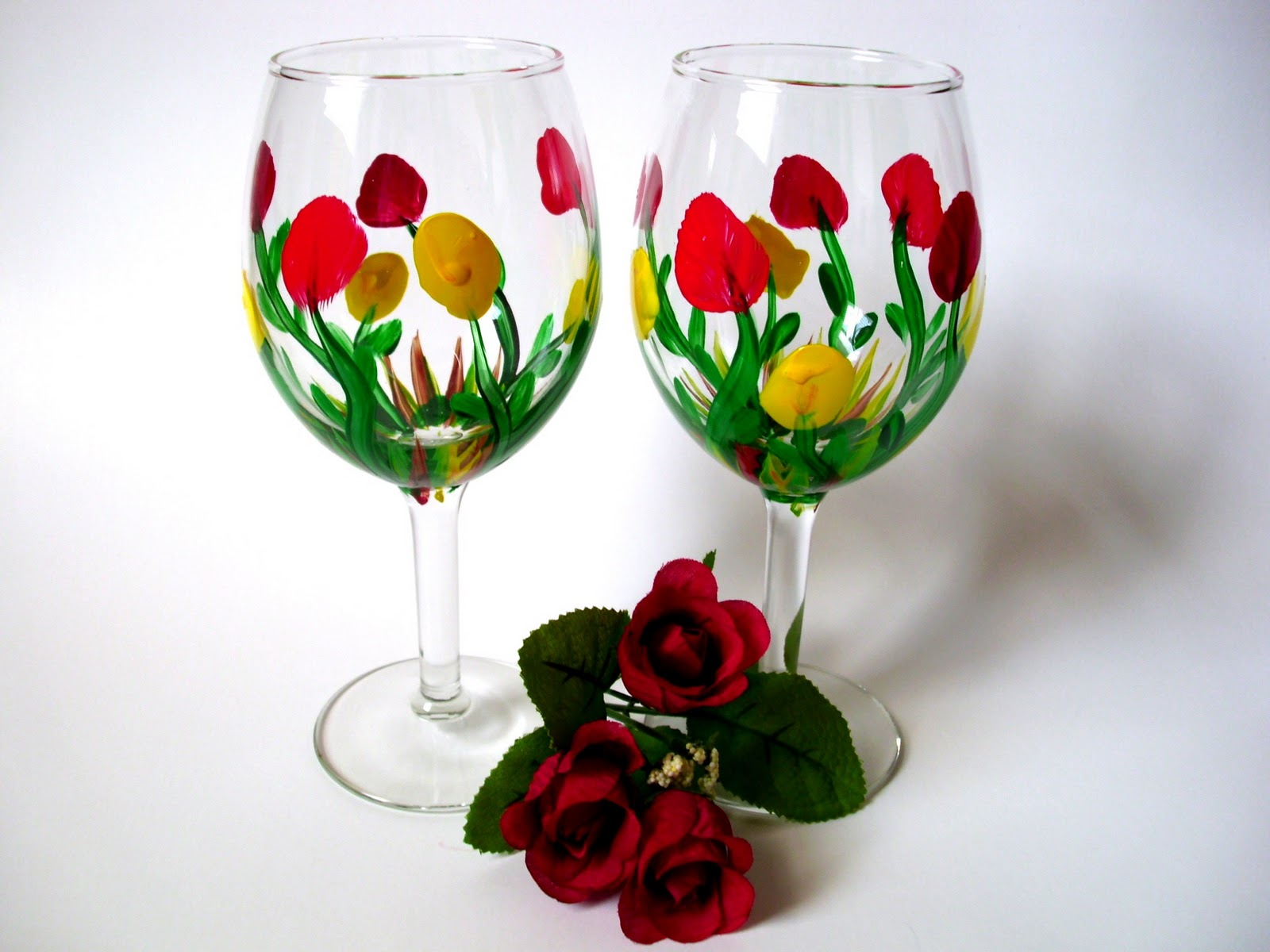 Heart and home new hand painted wine glasses Images of painted wine glasses
