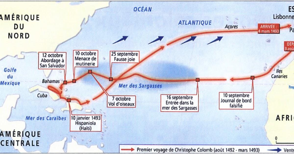 Pour les 5e : DM sur le premier voyage de Christophe Colomb. | K ...