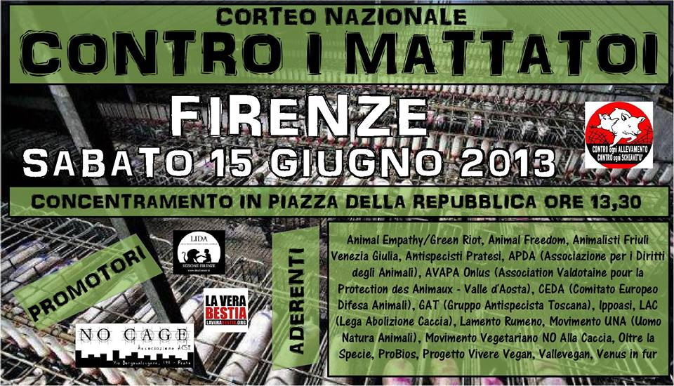 CORTEO NAZIONALE CONTRO I MACELLI - 15 GIUGNO