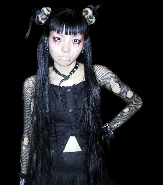 School asian goth lesb