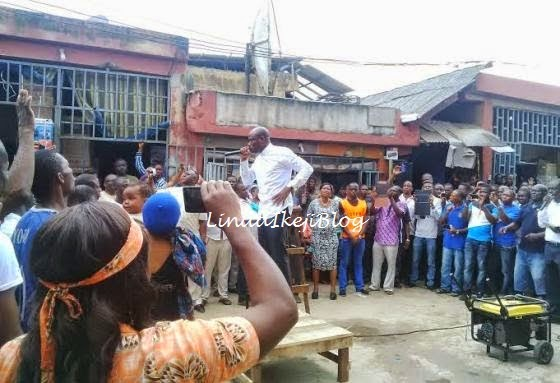 Photos: Pastor Taribo West Preaching at Alaba Market 1