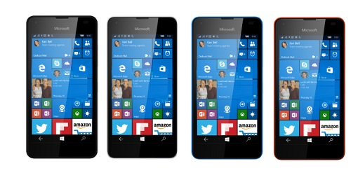 550 Lumia is available in four colors
