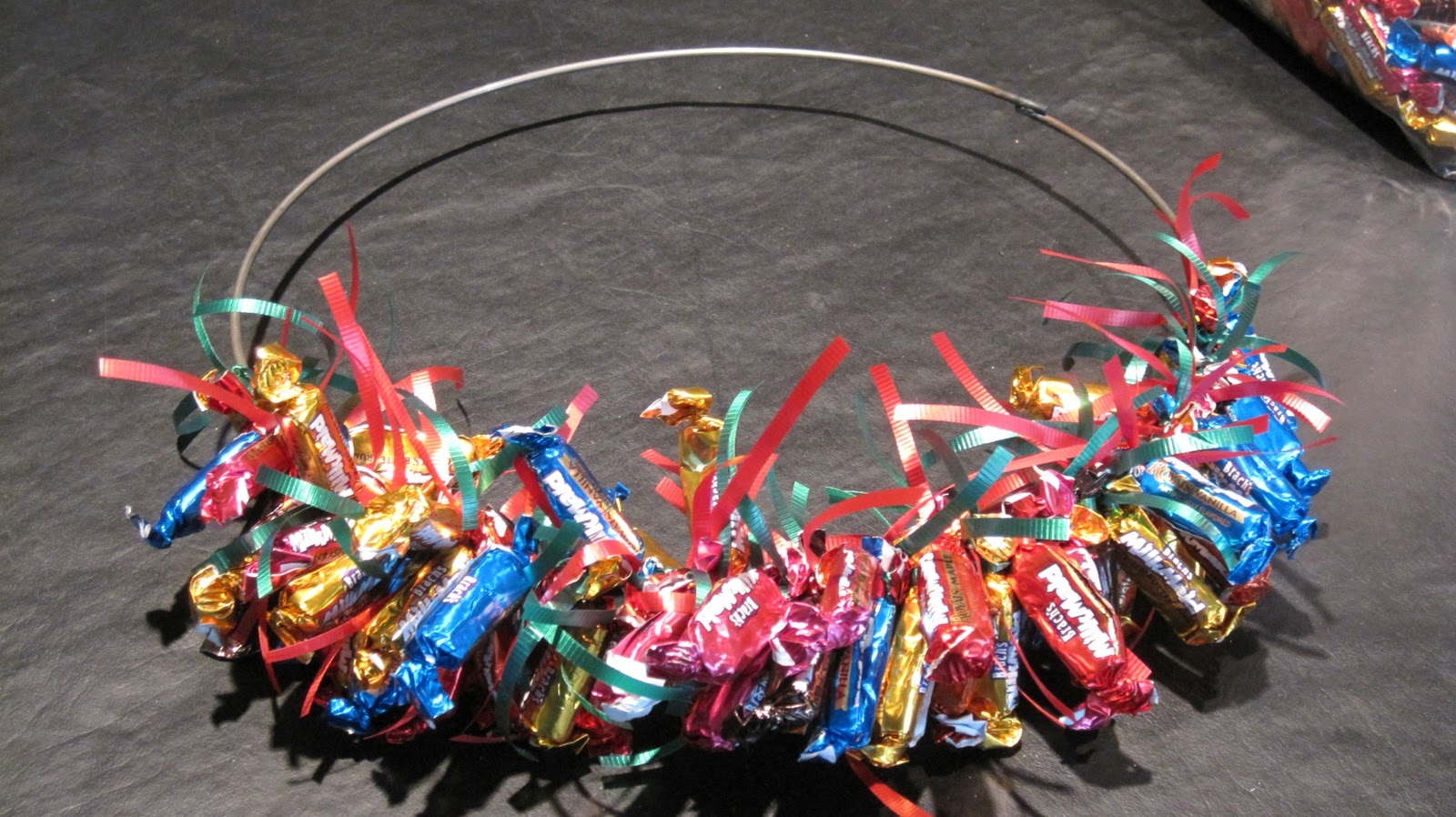 How to make a candy wreath at home with vicki bensinger Making wreaths