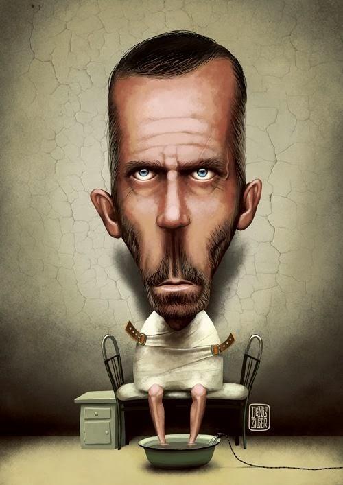 Denis Zilber ilustrações divertidas caricaturas House M.D.