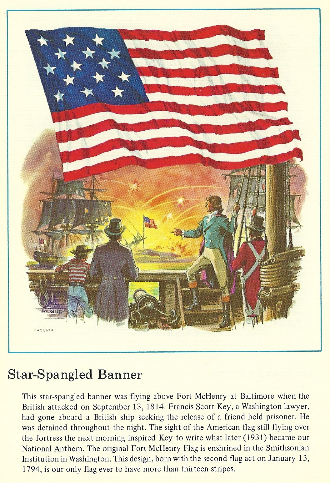 Rogers Park Retro Flags Of America The Star Spangled Banner