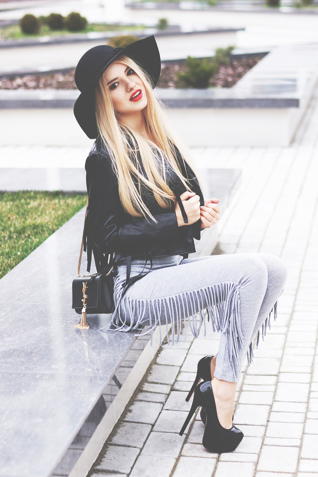 style moi clothes, fringed jacket, fringed leggins, fashion blogger