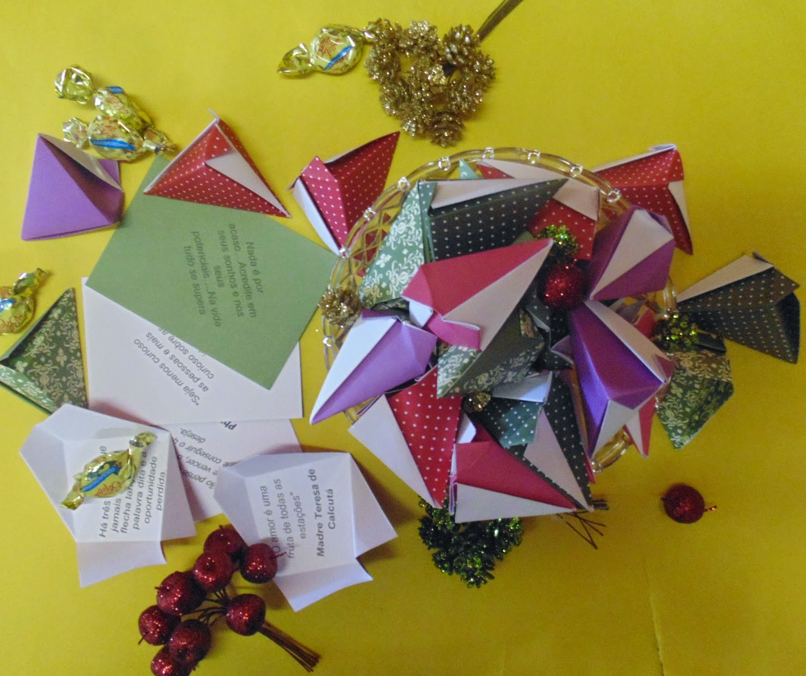 box mensagem origami