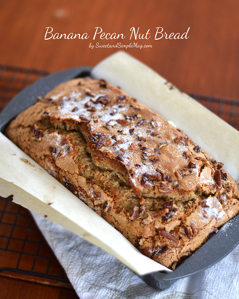 Sweet and simple magazine very best banana nut bread recipe food i have loved banana nut bread since i was a little kid i remember when i was about 6 to my mom surprise eating an entire loft of it all by myself forumfinder Choice Image