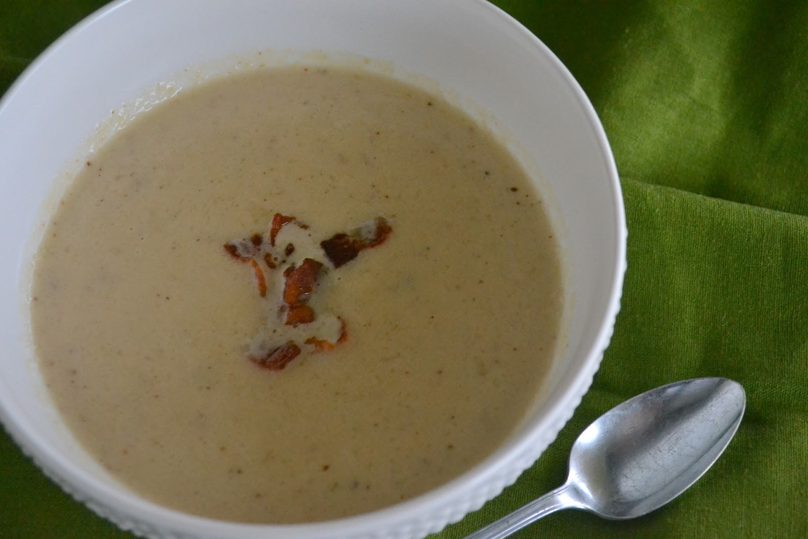 Candy Girl: Roasted Cauliflower and Aged White Cheddar Soup
