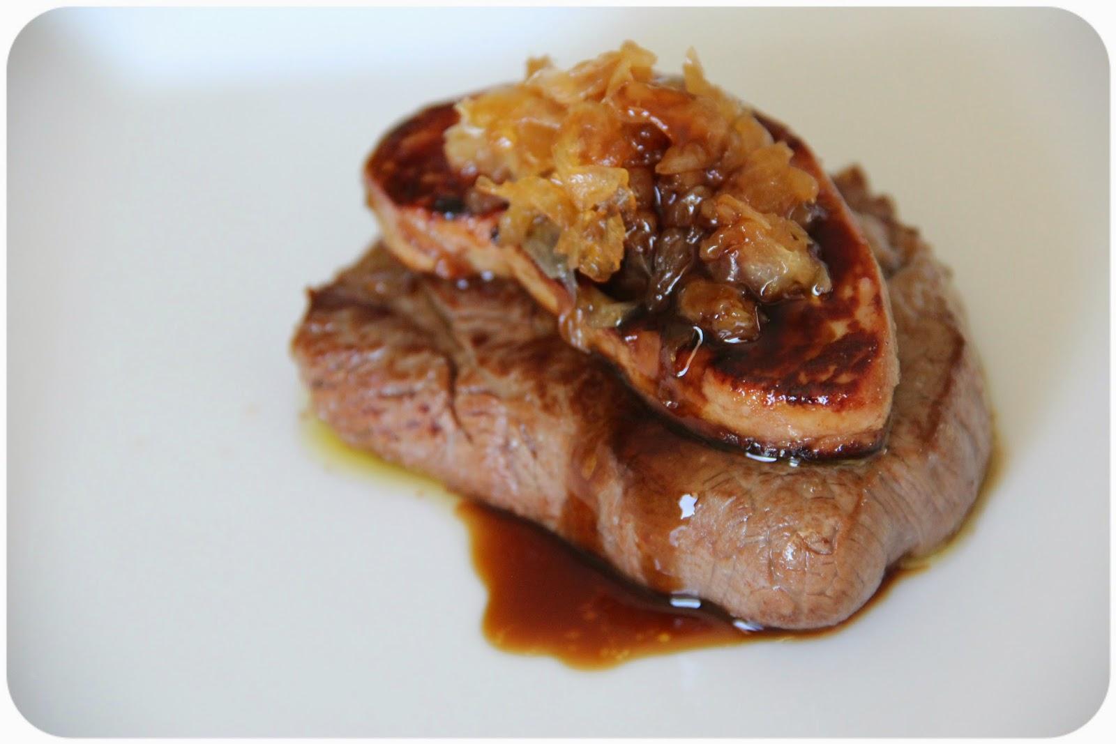 Y una pizca de sal solomillo de ternera con foie for Cocinar solomillo ternera