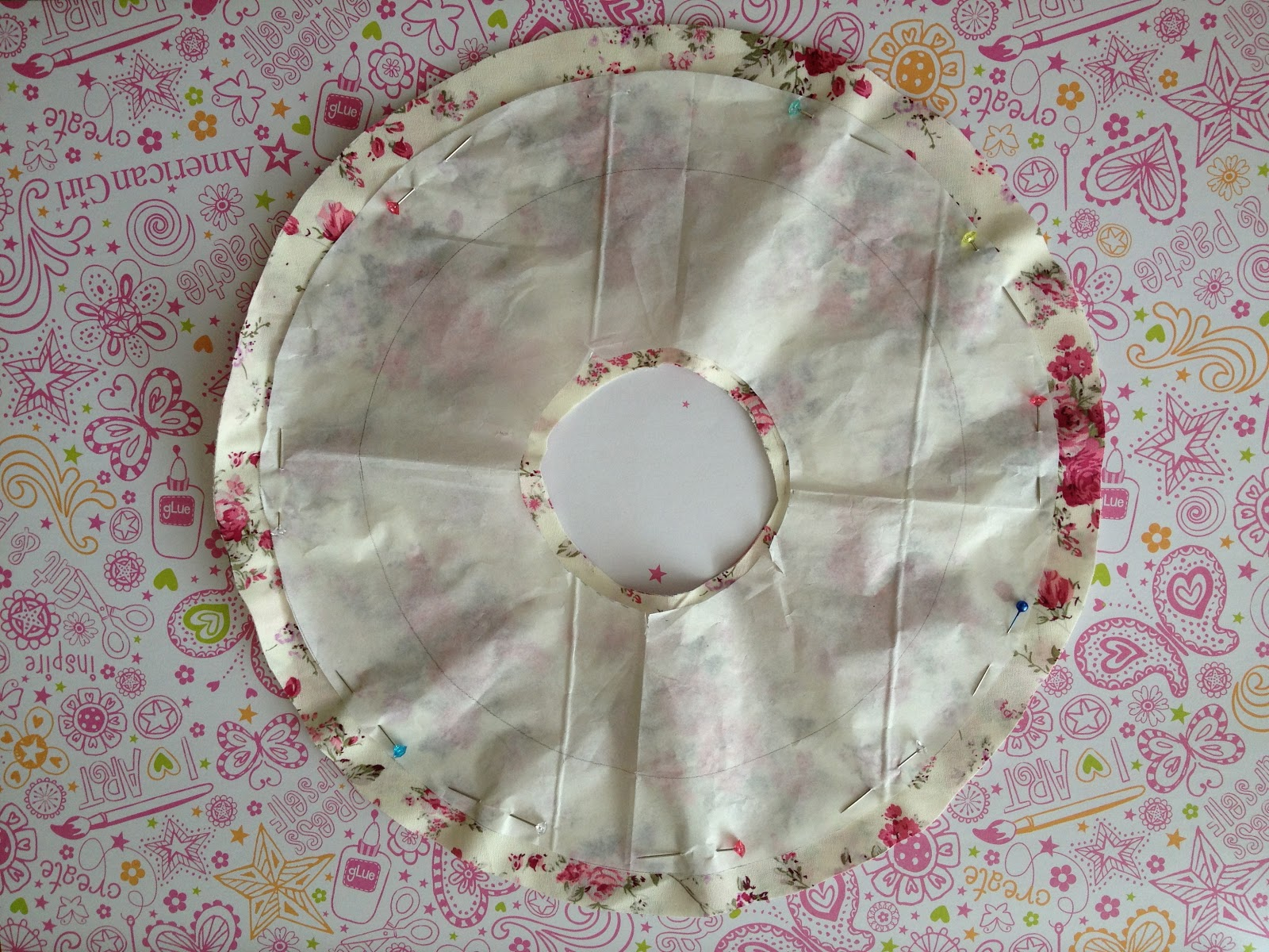 how to cut a double circle skirt