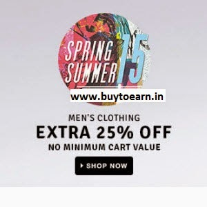 Buy Online Men's Clothing upto 60% off