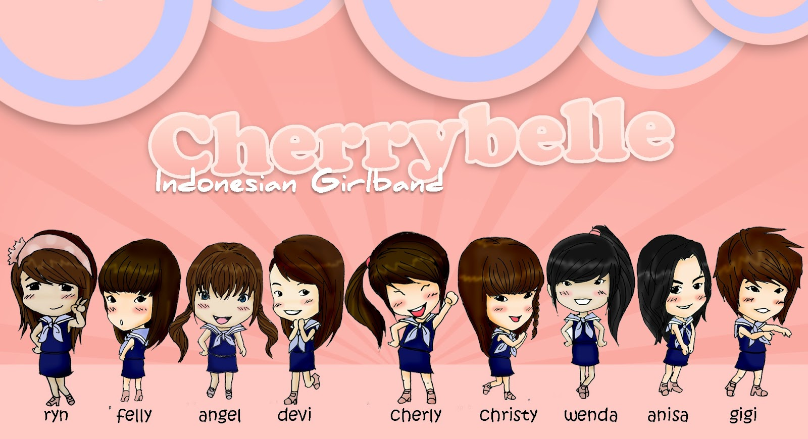 Cartoon Cherry Belle