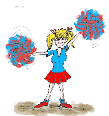 642 Things to Draw 43 - Pom-poms - Ink and Digital colour by Ana Tirolese ©2012