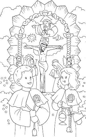 Dibujo para colorear del Señor de los Milagros