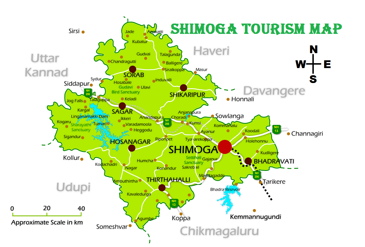 SHIMOGA TOURISM MAP TOURIST ATTRACTIONS IN SHIMOGA TOURIST – India Tourist Attractions Map