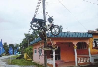 Honda EX5 Digantung Akibat Cuba Curi Wang Masjid