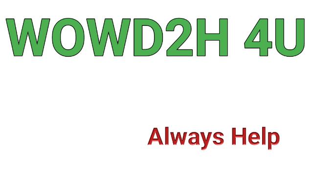 WOWD2H 4U