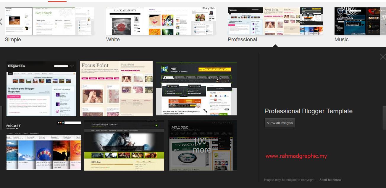 Tempat Untuk Download Blog Template Percuma