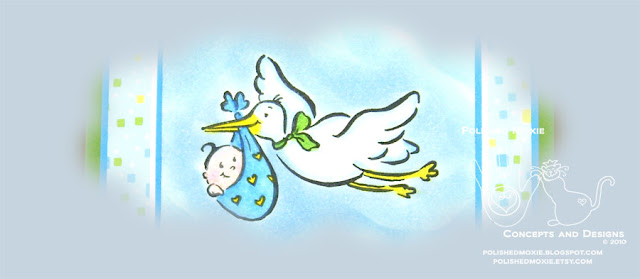 Picture of a partial image of my stork baby card