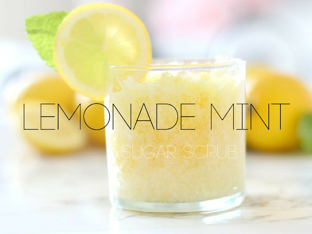 mint lemonade scrub uses diy recipe