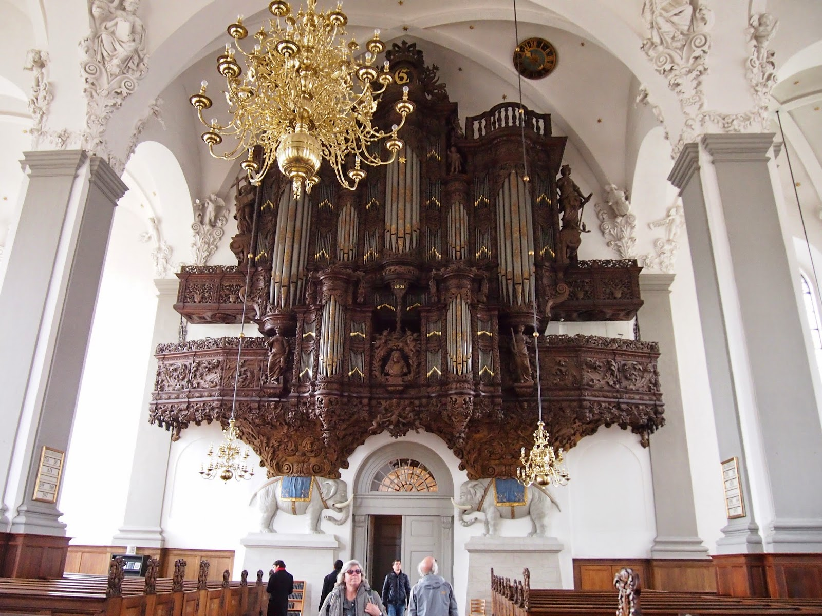 intricate organ in the our saviors church in copenhagen
