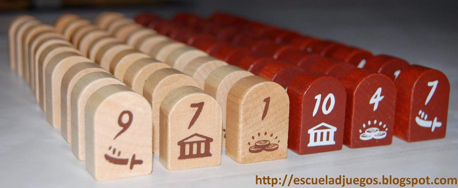 Bloques de madera representando a los votantes