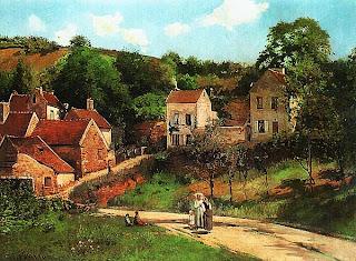 Камиль Писсарро. Улица Эрмитаж в Понтуазе. 1867.
