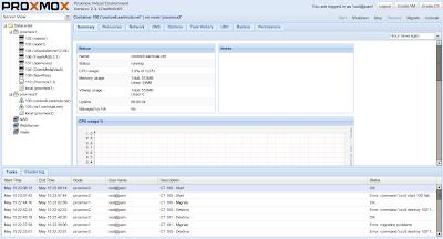 Web administrasi Proxmox 2.3