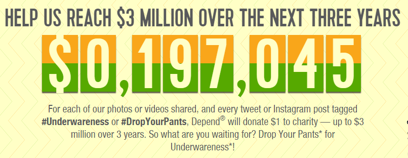 #underwareness charity goal