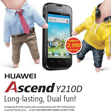 Huawei Ascend Y210D Affordable Android