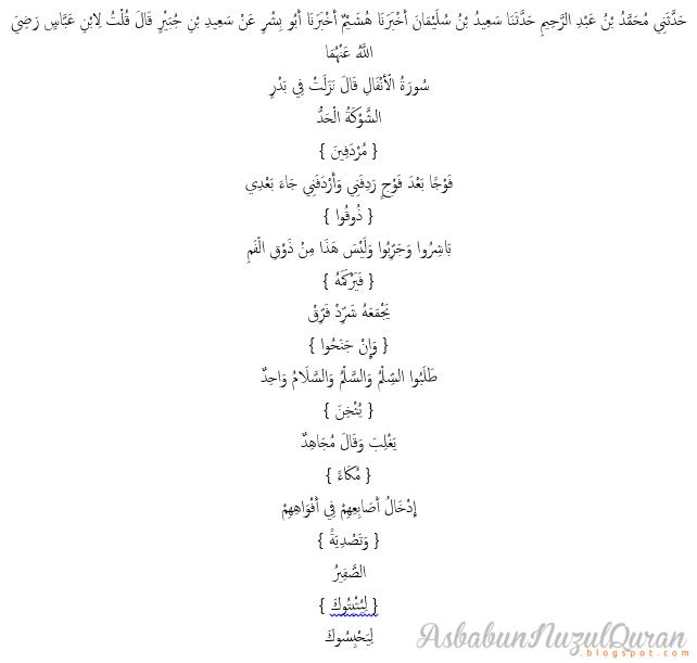 Quran Surat al Anfal ayat 9|Penjelasan