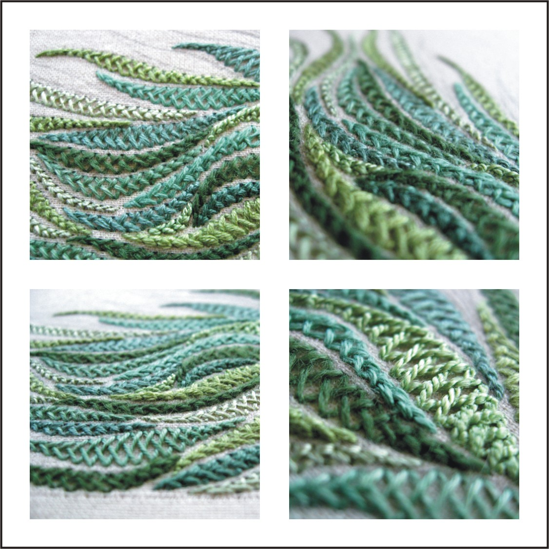 Knitting Stitch In Needlepoint : Tracy A Franklin - specialist embroiderer: more herringbone stitch