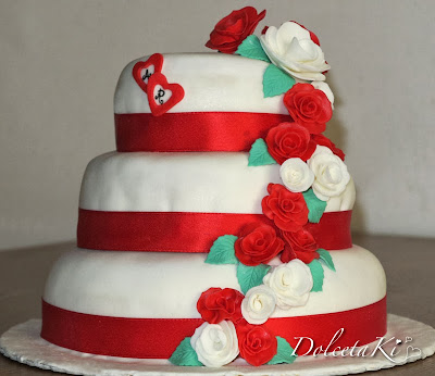 wedding cake rose rose