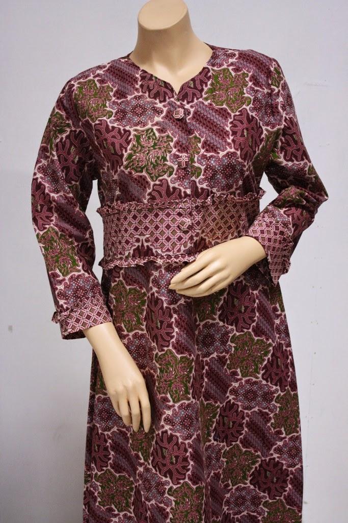 Foto gambar model baju batik muslim terbaru masa kini