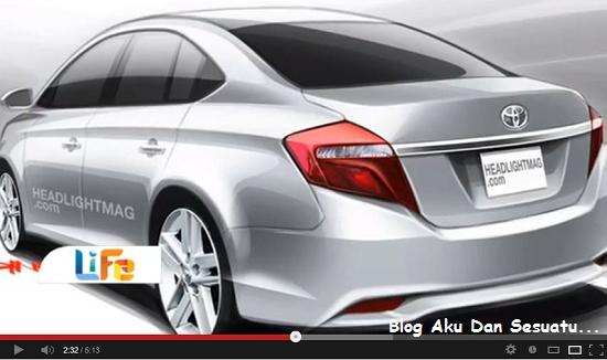 Kalaulah model Toyota Vios baru 2013 adalah seperti gambar di atas