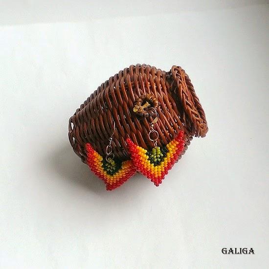 Little Seed Bead Earrings-Colorful Beaded Jewelry