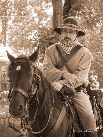 reenactor on horse