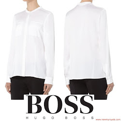 Queen Letizia Style HUGO BOSS Blouse