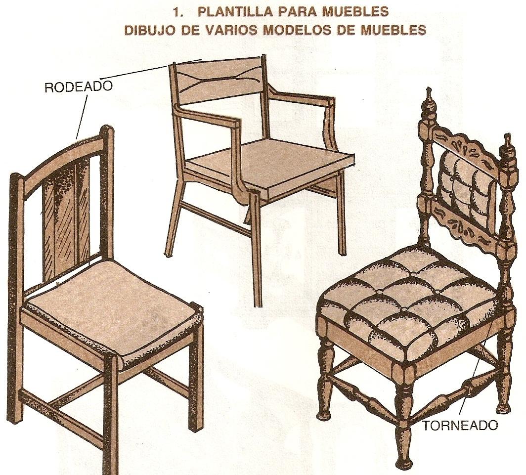 Muebles domoticos plantillado de piezas de madera para for Modelos de muebles de madera