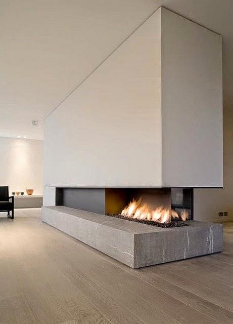Dolce hogar chimeneas minimalistas - Chimeneas de obra ...