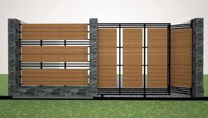 Desain Pagar Rumah Minimalis Modern