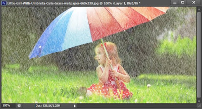 How to make rain in photoshop