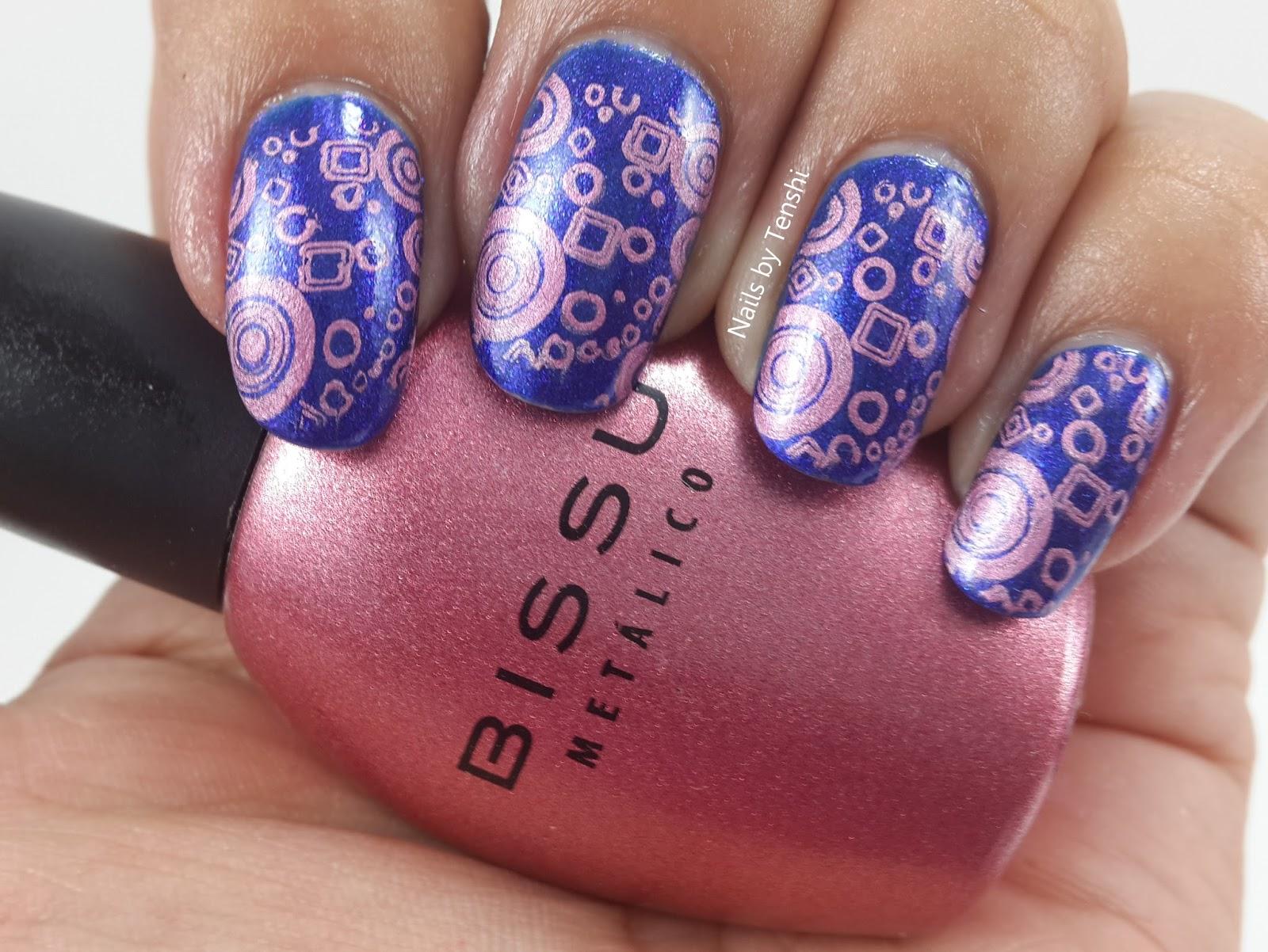 Nails by Tenshi: Círculos rosas de Pueen