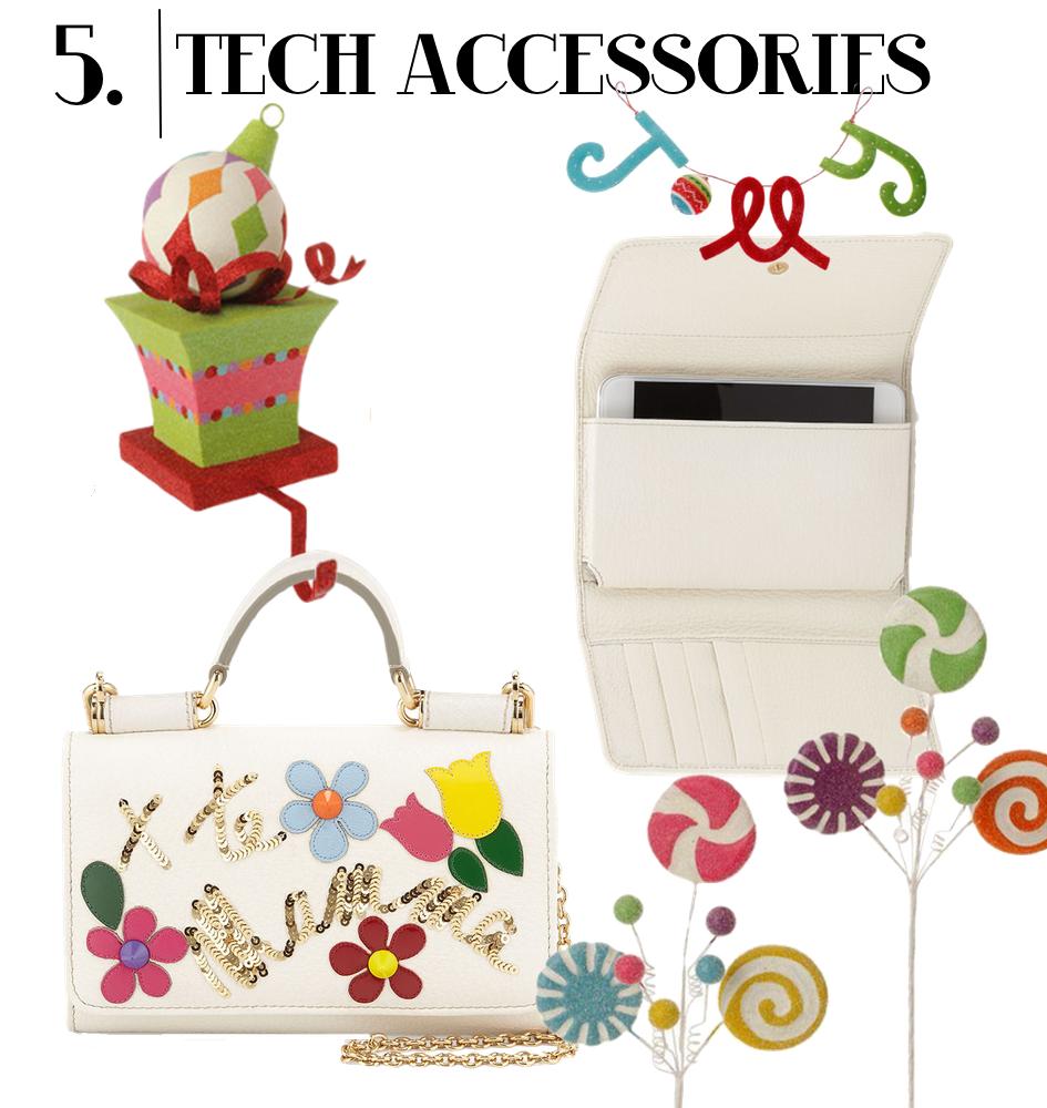 Dolce & Gabbana Flower Crossbody iPhone Wallet, White Multi