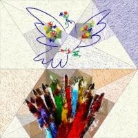 'Els meus llapis de colors cerquen el colom de la pau de Pablo Picasso (Cristina Cray)'