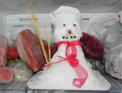 kardan adam buzdolabında. ice