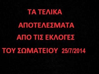 ΕΚΛΟΓΕΣ 25/7/2014