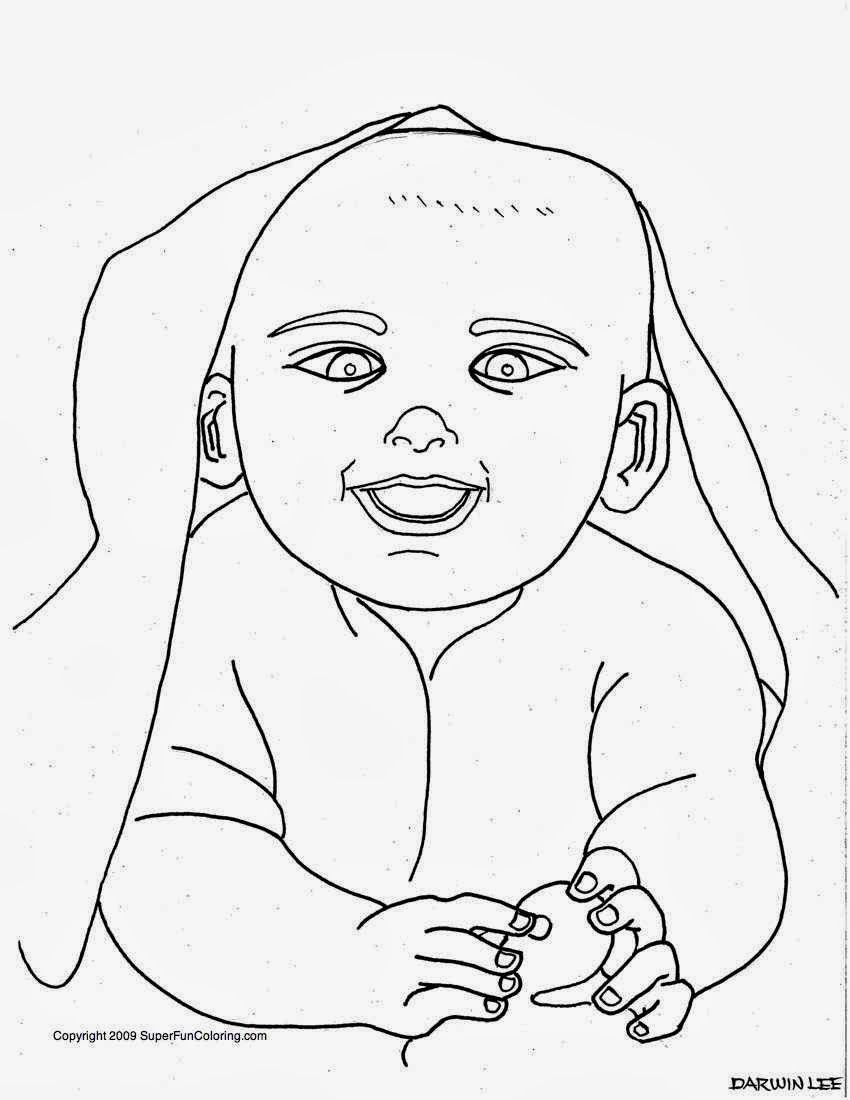 coloring pictures of babies
